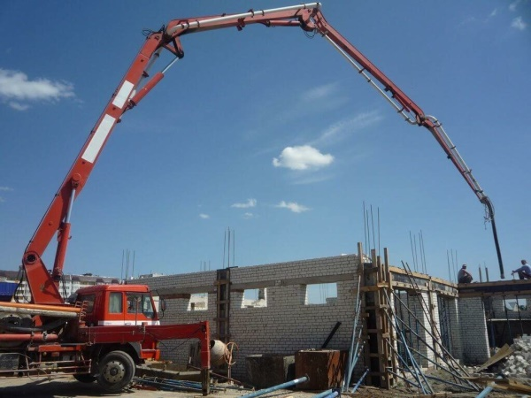 бетононасос в работе